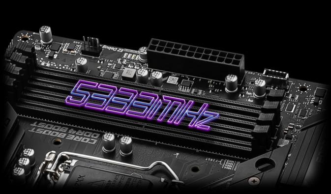 MSI MPG Z590 GAMING EDGE WIFI RAM Boost Illustration