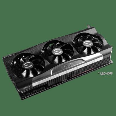 EVGA GeForce RTX 3080 Ti FTW3 ULTRA Angled Fan View
