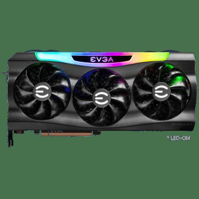 EVGA GeForce RTX 3080 Ti FTW3 ULTRA Flat Fan View
