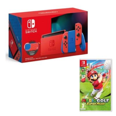 Nintendo Switch Mario Edition with Mario Golf: Super Rush Bundle