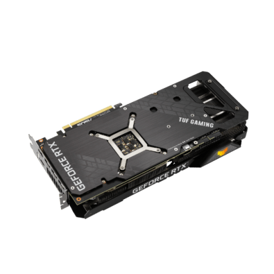 ASUS TUF GAMING GeForce RTX 3070 Ti OC Angled Backplate View