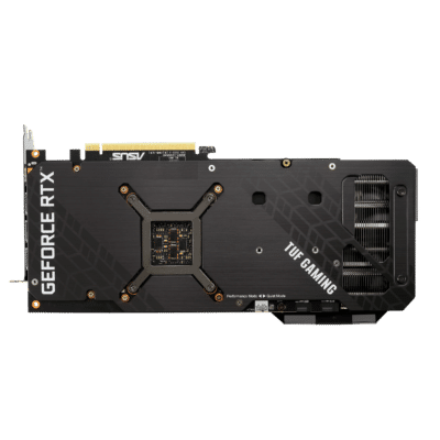 ASUS TUF GAMING GeForce RTX 3070 Ti OC Backplate View
