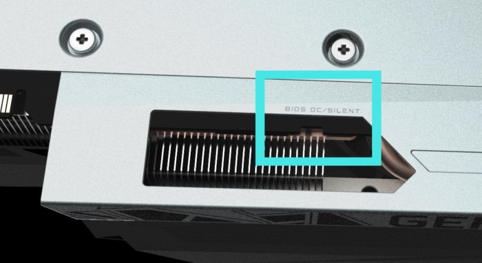 Gigabyte GeForce RTX 3060 GAMING OC 12G Dual BIOS Illustration