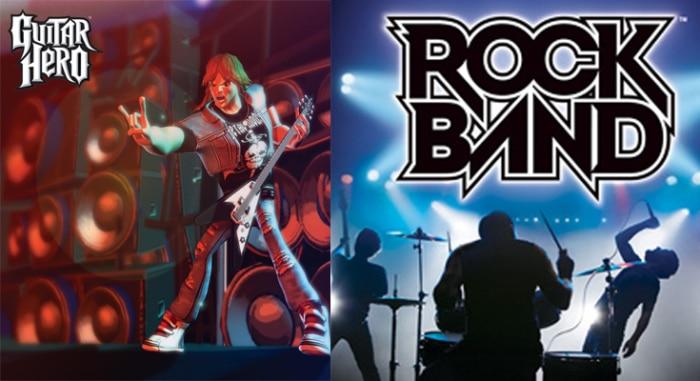 Guitar Hero vs Rock Band Poster