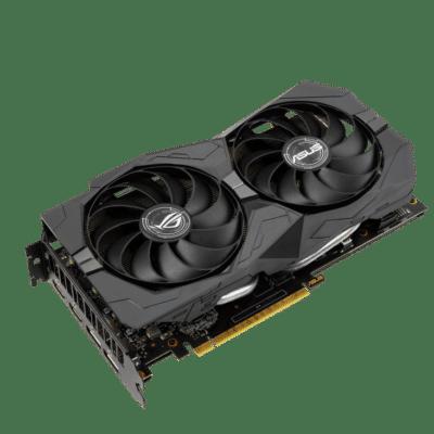 ROG Strix GeForce GTX 1660 SUPER Advanced Edition Flat Angled View
