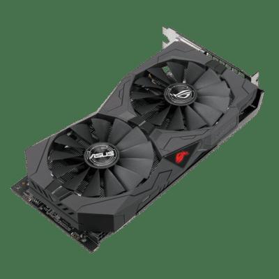 ASUS ROG Strix RX570 OC Edition 8GB Angled View