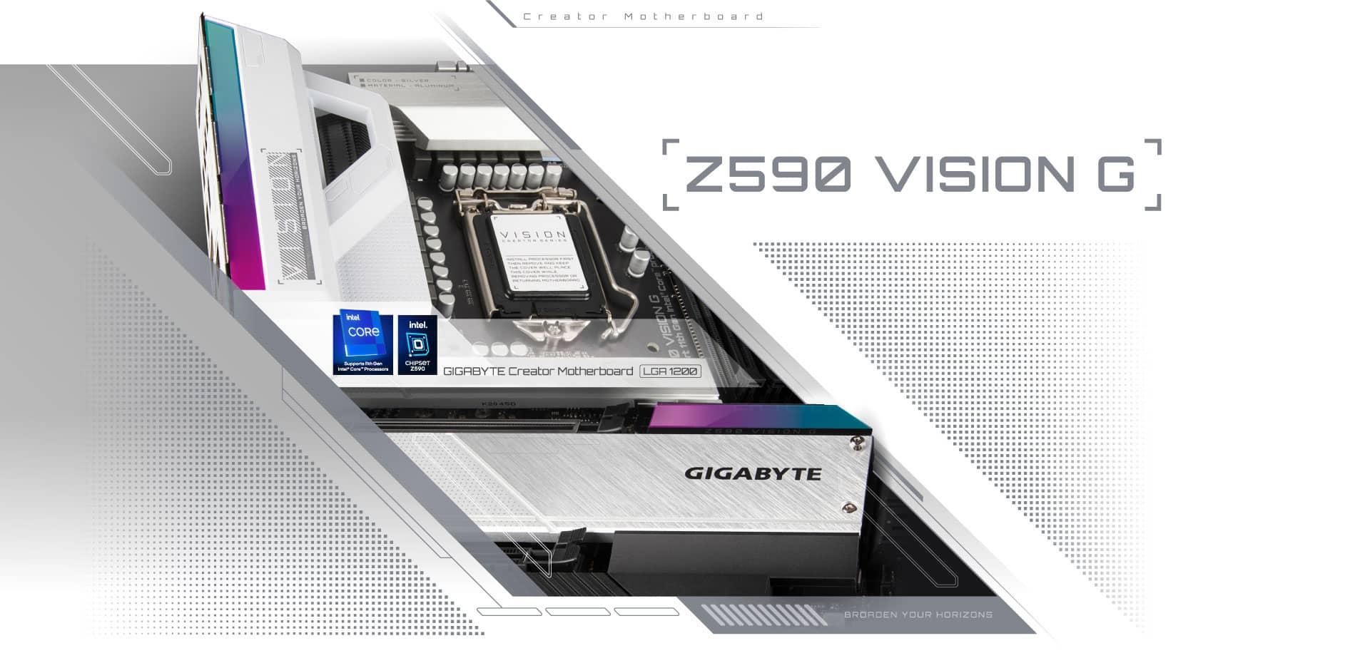 Gigabyte Z590 Vision G Design Promo Illustration