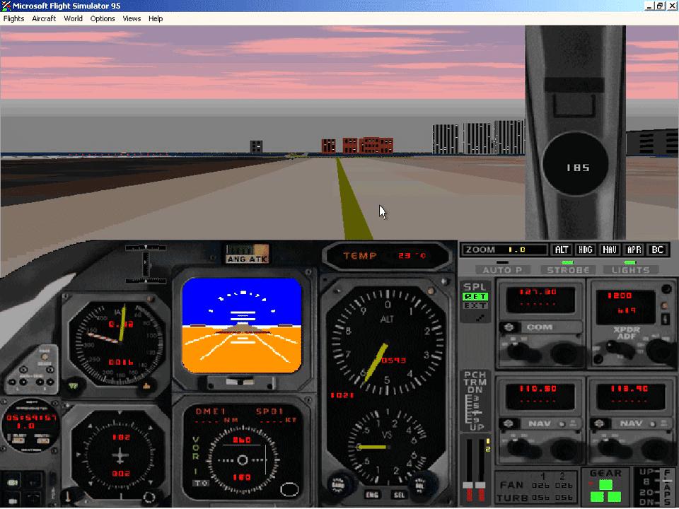 Microsoft Flight Simulator 1995 Screenshot