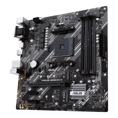 ASUS PRIME B550M-K Front Angled View
