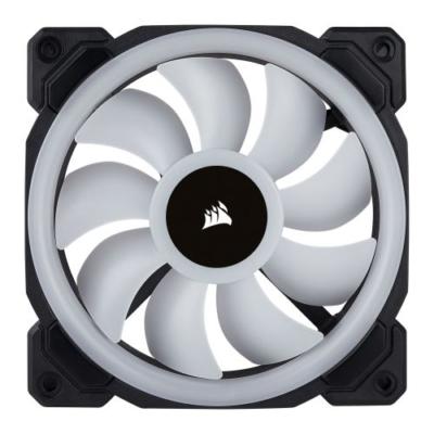 Black Corsair LL120 RGB PWM Case Fan Static View
