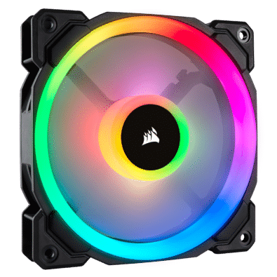 Black Corsair LL120 RGB PWM Case Fan Product Image