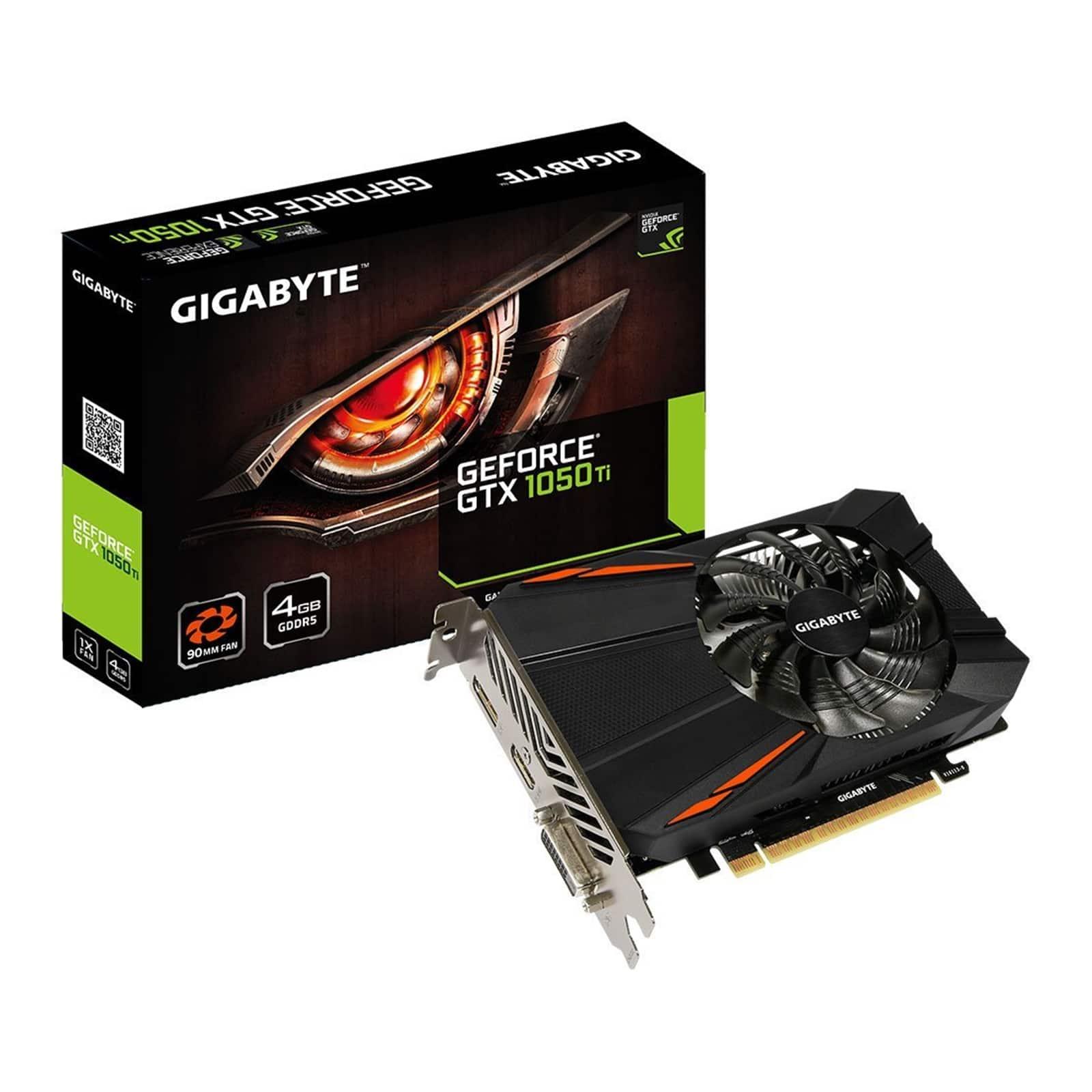 Gigabyte GTX 1050 Ti 4GB D5 Box View