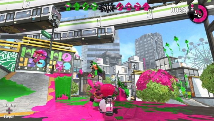 Splatoon 2 Gameplay Screenshot 1
