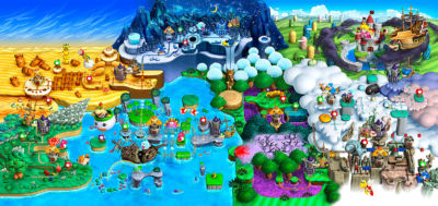 New Super Mario Bros U Deluxe Map