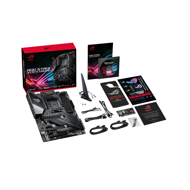 ASUS ROG Strix X570-E Gaming Package View