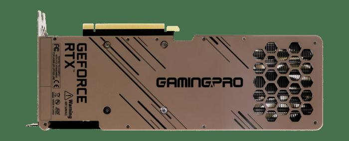 Palit RTX 3080 Ti GamingPro Backplate View