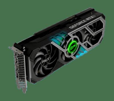 Palit RTX 3080 GamingPro V1 LHR Vertical RGB View
