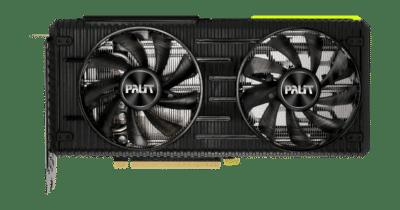 Palit RTX 3060 Ti Dual V1 Flat RGB View