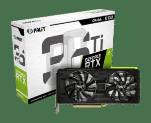 Palit RTX 3060 Ti Dual V1 Box View