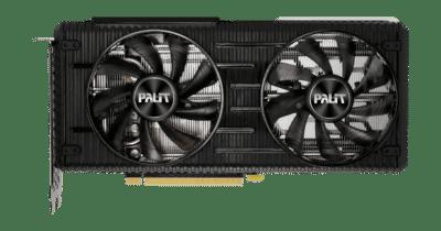 Palit RTX 3060 Ti Dual V1 Flat Fan View
