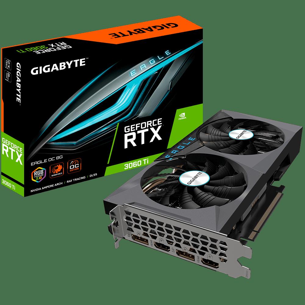 Gigabyte RTX 3060 Ti EAGLE OC Box View