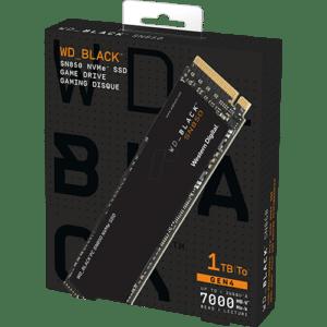 Western Digital SN850 1TB NVMe SSD Box View