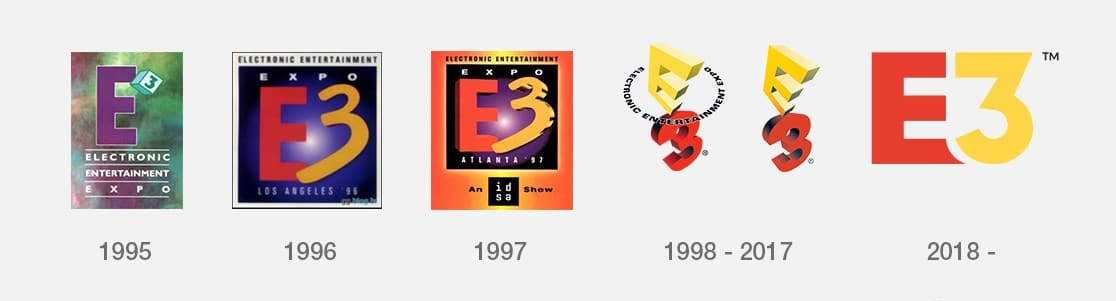 E3 Logos from 1995 to present day