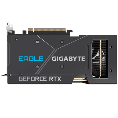 Gigabyte RTX 3060 Ti EAGLE OC Back Plate View