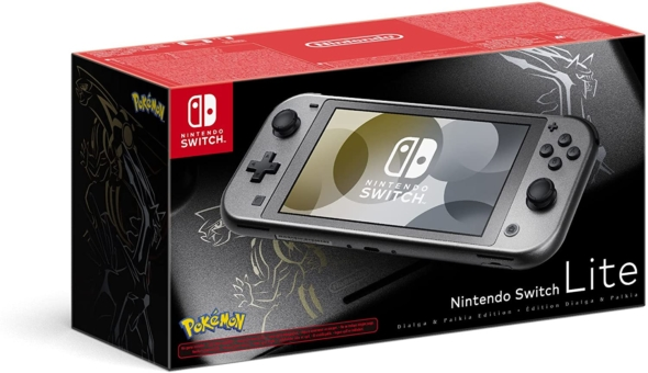 Nintendo Switch Lite Pokémon Dialga & Palkia Edition Box View