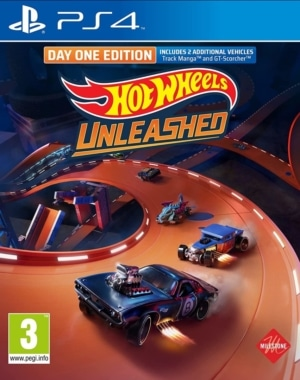 Hot Wheels Unleashed Day One Edition PS4 Box Cover