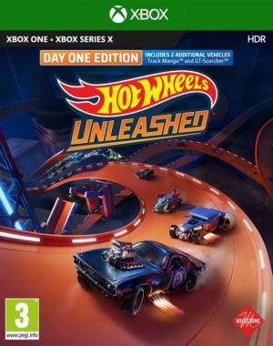 Hot Wheels Unleashed Day One Edition Xbox One Box Cover
