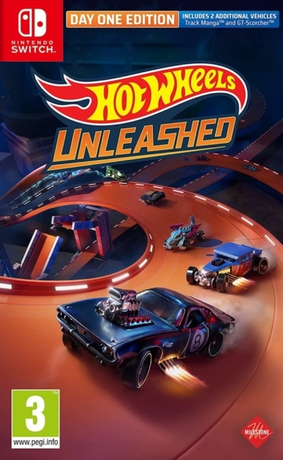 Hot Wheels Unleashed Day One Edition Nintendo Switch Box Cover