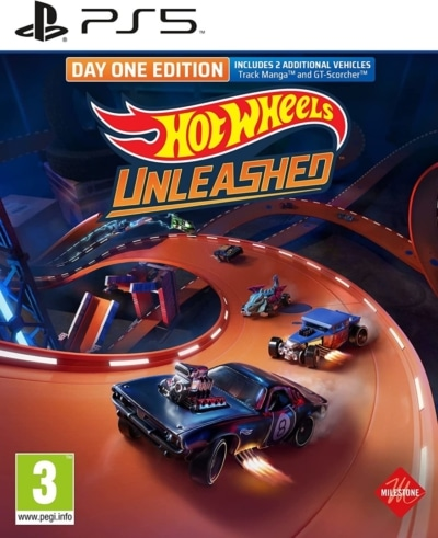 Hot Wheels Unleashed Day One Edition PS5 Box Cover