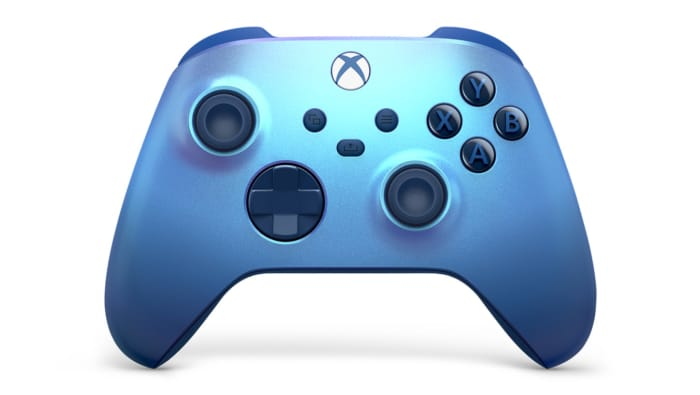Xbox Aqua Shift Wireless Controller Front View