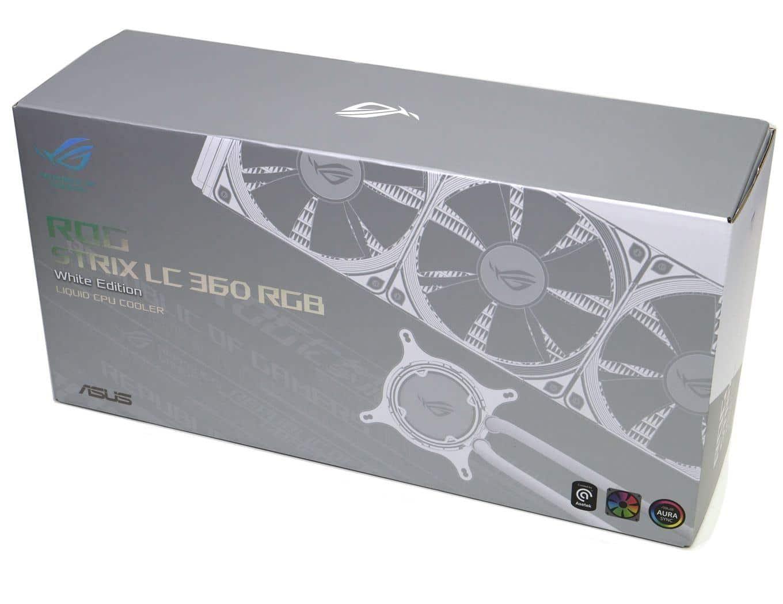 ROG Strix LC 360 RGB White Edition Box View