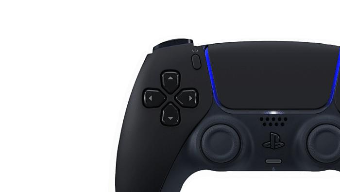 Sony PS5 DualSense Midnight Black Create Button View