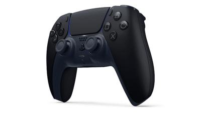 Sony PS5 DualSense Midnight Black Angled View