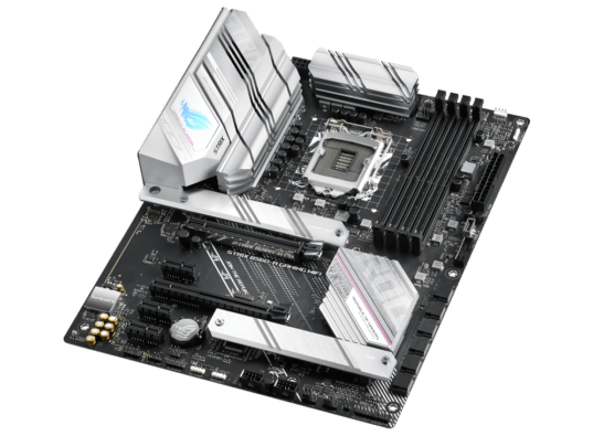 ASUS ROG Strix B560-A Gaming WiFi Angled View