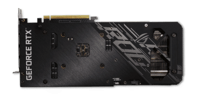ASUS RTX 3060 V2 OC Backplate View
