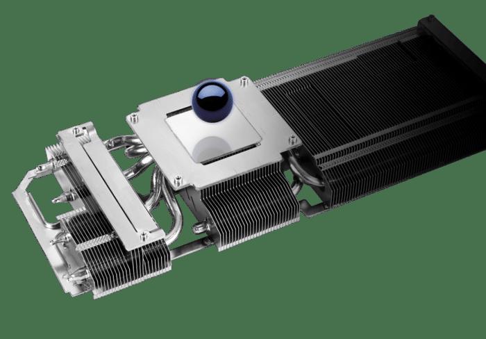 ASUS RTX 3060 V2 OC Heatsink View