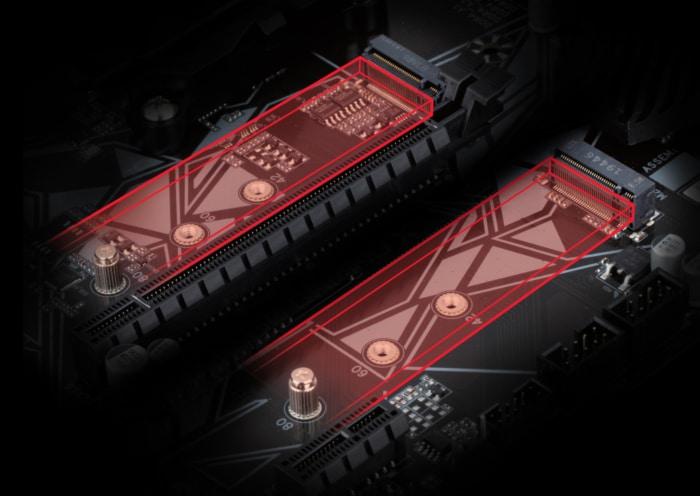 GIGABYTE B550 Gaming X V2 PCIe View