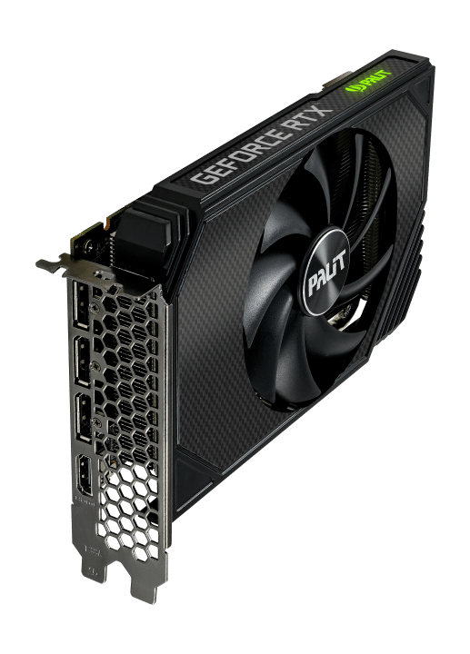 Palit RTX 3060 StormX Angled Vertical View