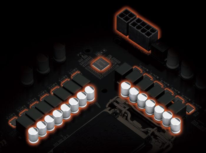 GIGABYTE Z590 GAMING X Power Design View
