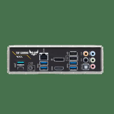 ASUS TUF Gaming B550-PLUS Back-panel View