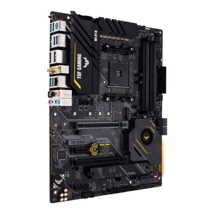 ASUS TUF Gaming X570-PRO (Wi-Fi) Angled View