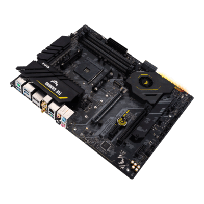 ASUS TUF Gaming X570-PRO (Wi-Fi) Angled Horizontal View