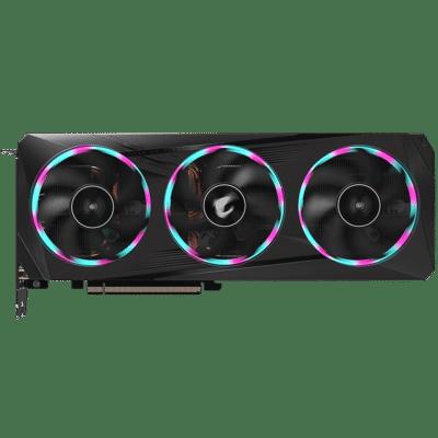 Gigabyte RTX 3060 Ti AORUS Elite 8G rev. 2.0 Flat Fan View