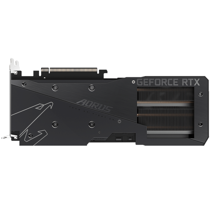Gigabyte RTX 3060 Ti AORUS Elite 8G rev. 2.0 Backplate View